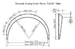 Audi TT Fender Flares JDM wide body kit wheel arch 50mm+70mm 4pcs