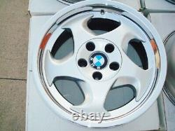 BMW E34 M5 Genuine 17x9 & 17x8 OEM #21 M-System Wheels E24 E28 E30 M3 E31 E9 M6