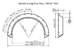 BMW E90 E91 E92 E93 Fender flares CONCAVE wide body wheel arches 2.75 + 4.3