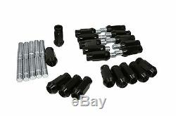 BMW Spacers 5x120 (2) 12mm (2) 15mm with Racing Lug Nuts and Stud Conversion