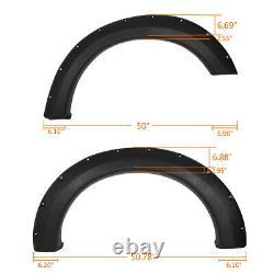 Bolt-On Pocket Rivet Fender Flares Fit For 04-08 F150 07-08 Mark LT Styleside