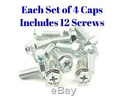 CHEVY GMC 4x4 6 LUG 15x8 15 TRUCK RALLY WHEEL HUB CENTER CAPS BOLT ON SET NEW