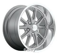 CPP US Mags U111 Rambler Wheels Rims, 22x9 front + 22x11 rear, 5x5, GRAY XX