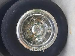 Chevy GMC 16 Dual Steel Wheel Simulators Dually 8 Lug Rim Skins Liners Covers