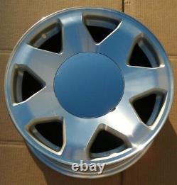 Chrome No Logo Center Caps 4 Plain Smooth fit OEM Cadillac Escalade 17 in Wheels