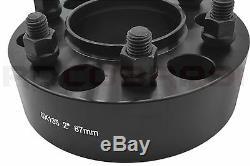 Complete Ford F-150 Black 2 Hub Centric Wheel Spacers 6x135 +24 Spline Lug Nuts
