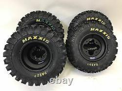 DWT A5 Black Wheels Rims Maxxis Razr 2 Tires Front/Rear XC Kit TRX 450R 250R 400