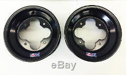 DWT Black A5 Rolled Lip 10 Front & 8 Rear Wheels Rims TRX 450R 400EX 300X 250R
