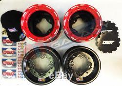 DWT MX Red Champion in a Box 10 Front 8 Rear Beadlock Rims Wheel 450R 400X 250