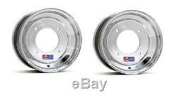 DWT Polished 10 Front and 9 Rear Wheels Rims YFZ450 Banshee Raptor 700 660 250