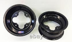 Dwt Black A5 10 3+2 Front Aluminum Rolled Lip Wheels Rims Yfz Banshee Raptor