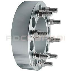 FORD & DODGE 8x6.5 FORGED BILLET WHEEL SPACERS ADAPTERS 9/16 THREAD With LUG NUT