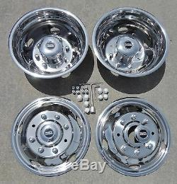 FORD F450 / F550 19.5 1999 2000 2001 2002 Stainless Dually Wheel Simulators