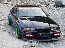 Fender flares for BMW 3 e36 wide body kit JDM wheel arches ABS 3.5 90mm 4pcs