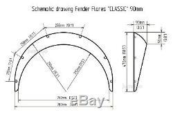 Fender flares for Nissan Hardbody D21 wide body wheel arch JDM 3.5 90mm 4pcs