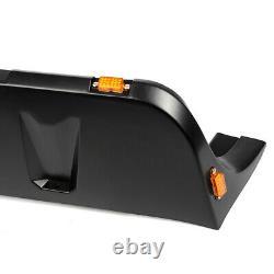 Fit For 07-18 Jeep Wrangler JK Pocket Rivet Style Smooth Fender Flares WithLED