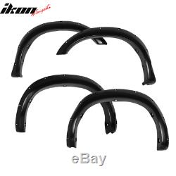 Fits 07-13 Tundra Pocket Fender Flares Smooth Black ABS Paintable