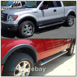Fits 09-14 Ford F150 OE Style Fender Flares 4Pc Set Black PP