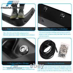Fits 15-17 Ford F150 Pocket Rivet Wheel Fender Flares PP Smooth Matte Black