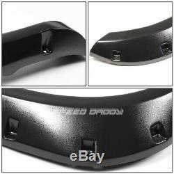 For 02-09 Dodge Ram Pickup 3 Textured Black Pocket-riveted Wheel Fender Flares