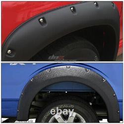 For 02-09 Dodge Ram Truck 3 Textured Black Pocket Rivet Wheel Fender Flares Kit