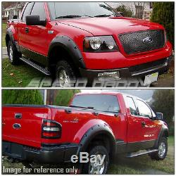 For 04-08 Ford F-150 Pickup 3 Textured Black Pocket-riveted Wheel Fender Flares