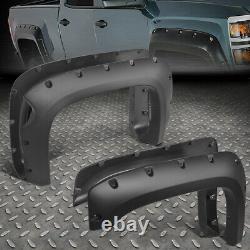 For 07-13 Chevy Silverado 1500 69.3 Fleetside Pocket-rivet Wheel Fender Flares