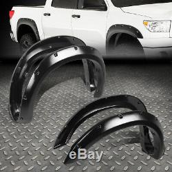 For 07-13 Tundra 2nd Gen Texture Pocket-riveted Wheel Fender Flare 2 4pcs Cover