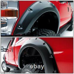 For 07-13 Tundra Textured Black Pocket Riveted Fender Flares 2 Wheel Cover 4pc
