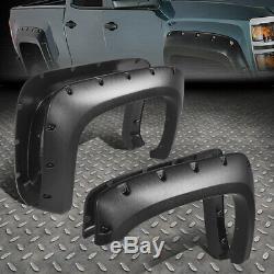 For 07-14 Chevy Silverado Fleetside 4pcs Pocket-riveted Side Wheel Fender Flares