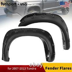 For 2007-2013 Toyota Tundra Wheel Fender Flares Pocket Rivet Style Textured 4PCS