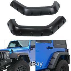 For 2007-2018 Jeep Wrangler 4PCS ABS Rivet Wheel Cover Pocket Fender Flares