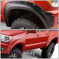 For 2012-2015 Toyota Tacoma 73.5bed Pocket-rivet Wheel Fender Flares Textured