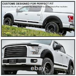 For 2015-2017 Ford F150 Rugged Textured Pocket Rivet Wheel Fender Flares Cover