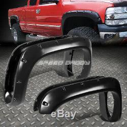 For 94-02 Dodge Ram Pickup 3 Textured Black Pocket-riveted Wheel Fender Flares