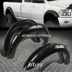 For 99-07 Ford Super Duty 3 Textured Black Pocket-riveted Wheel Fender Flares