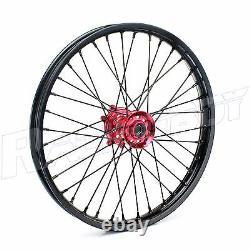 For Honda Cr Crf 125 250 450 Crf250 Crf450 Wheel Rim 21 19 Black Rims Red Hub
