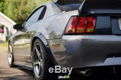 Ford Mustang 4th Fender flares JDM over wide body wheel arches ABS 2.0 2pcs