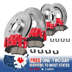 Front + Rear Brake Calipers And Rotors + Ceramic Pads For Dodge Ram 2500 3500