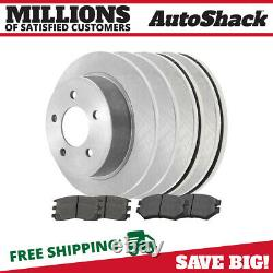Front & Rear Disc Brake Rotors & Semi Metallic Pads Kit for Chevy Venture 3.4L