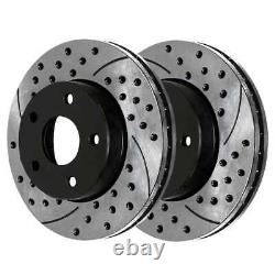 Front & Rear Drilled Slotted Disc Brake Rotors Set of 4 for Ford Mustang 4.6L V8