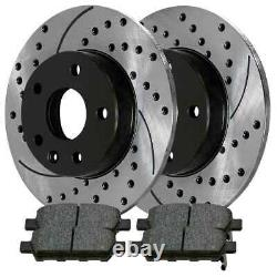 Front Rear Drilled Slotted Rotors and Ceramic Pads for 2002-2006 Nissan Altima