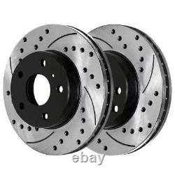 Front Rear Drilled Slotted Rotors and Ceramic Pads for 2003-2005 Nissan 350Z G35