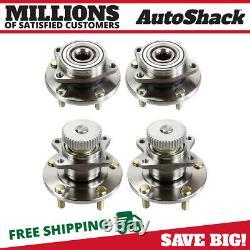 Front and Rear Wheel Hub Bearing Assembly Set of 4 for Chrysler Sebring 3.0L V6