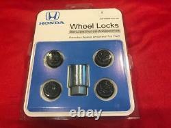 Genuine Honda Accord CIVIC Acura Black Chrome Exposed Wheel Lug Nut Lock Set
