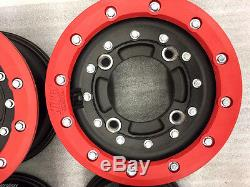 Hiper CF1 10 Front 9 Rear Beadlock Rims Wheels Honda TRX 450R 250R 400EX 450ER