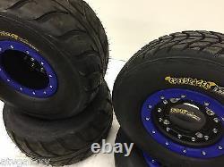 Hiper CF1 Beadlock Wheels Speedracer Street Tires Front/Rear Kit Raptor 700 660