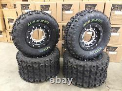 Hiper Tech 3 Beadlock Wheels Maxxis Razr 2 Tires Front/Rear Kit Banshee 350