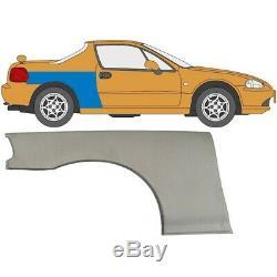 Honda CIVIC Crx Del Sol 1992-1998 Rear Wheel Arch Repair Panel Rear Wing / Pair