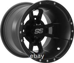 ITP 10 Front 9 Rear SS112 Matte Black Sport Wheels YZF450 Raptor 700 Banshee